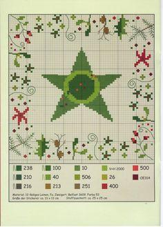 Point de croix Noël -m@- Christmas cross stitch