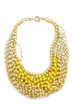 Statement of the Art Necklace in Sun - Yellow, Beads