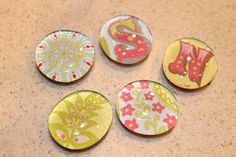 DIY Magnets! So easy and fun to do! Check out how to make them here.