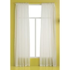 """Room Essentials™ Sheer Curtain Panel- Ivory (60x84"""") - Target! $4.99"""