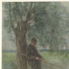 Een hengelaar, Jozef Israëls, 1834 - 1911 - Search - Rijksmuseum
