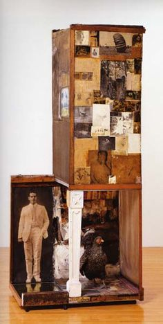 Rauschenberg, Untitled (Man with the white shoes), 1954 - inspiration for porch set piece?