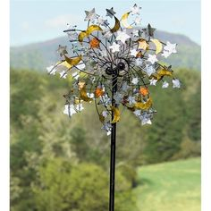 Celestial Confetti Wind Spinner | Decorative Garden Accents