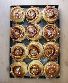 Swedish Cinnamon Buns - My grandmother made cinnamon bread and rolls. These sure look like them.