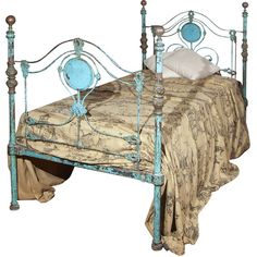 Bush Antiques - 19th Century Italian Bed - 1stdibs ❤ liked on Polyvore featuring home, furniture, beds, interior and bedroom