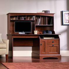 Amazon.com   Sauder Graham Hill Computer Desk With Hutch In Autumn Maple  Finish