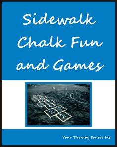 SIDEWALK CHALK FUN AND GAMES. 30 sidewalk chalk games that encourage physical activity. Sidewalk Chalk Fun and Games encourages: gross motor skills, fine motor skills. Sensory Motor, Gross Motor Activities, Gross Motor Skills, Fun Activities For Kids, Sensory Activities, Physical Activities, Sidewalk Chalk Games, Indoor Games For Kids, Motor Planning