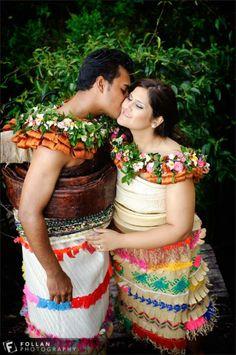 A mixture of Tongan and Fijian Tongan Wedding, Samoan Wedding, Polynesian Wedding, Traditional Wedding Attire, Traditional Dresses, Traditional Weddings, Tiare Tahiti, Polynesian Culture, Island Weddings