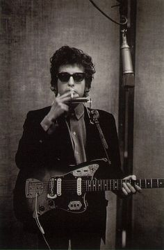 The Jazz Loft Project period-W. Eugene Smith...Bob Dylan, June 1965 in studio recording Highway 61 Revisited
