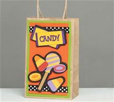 Your kids will be styling as they carry around this treat bag Halloween night! Created using the Trick or Treat Cartridge.