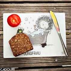 Frühstücksbrettchen mit Sternzeichen JUNGFRAU