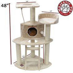 48' Casita Cat Furniture Tree Condo House Scratcher Pet Furniture By Majestic Pet