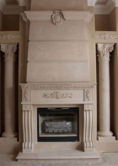 Stone Overmantel Fireplace - Marble - Cast Stone Surrounds ...