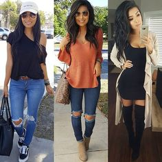 From everyday outfit to mommylife & date night ready... what look is your fav? 1,2 or 3 🤗❤