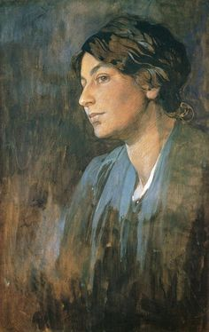 1905 'Portrait of Marushka' (Artist's Wife), by Alfons Maria Mucha (Czech; often known in English and French as Alphonse Mucha, was a Czech Art Nouveau painter and decorative artist, known best for his distinct style. Illustrator, Alphonse Mucha Art, L'art Du Portrait, Art Nouveau Poster, Oil Painting Reproductions, Art Moderne, Art Plastique, Oeuvre D'art, New Art