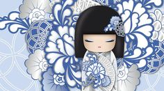 "✿ Kimmidoll Illustration ~ ""Kyoka"" 'Happiness' ✿ ""My spirit spreads optimism and…"