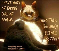 I have ways of taking care of people who talk too much before coffee!
