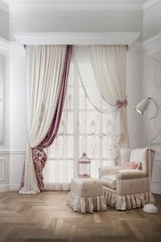 Best Modern Curtain Designs For Living Room Home Decor The ideas on curtains for the living room can vary significantly depending on the size of the room. Smaller rooms will usually need fewer items, while. Interior, Home Decor, Curtains, Window Coverings, Lace Bedroom, Curtain Styles, Curtain Decor, Window Curtain Designs, Curtain Designs