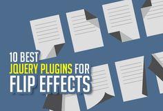 What are the 10 jQuery Plugins for creating flip effects? #flipeffect #jqueryplugins #javascript #HTML5 #textflipeffect