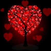 Tree Hearts Representing Valentine's Day And Trunk Valentines Day Clipart, Love Text, Beautiful Love, Love Messages, Royalty Free Images, Valentino, Clip Art, Hearts, Flowers