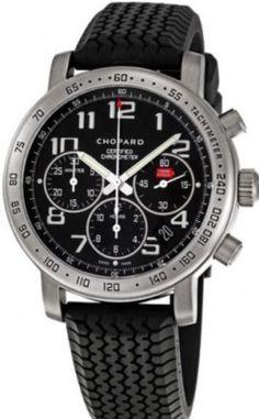 d602ddc9f36 Chopard Mille Miglia Titanium Black Ref 8915 Automatic Chronograph Men s  Watch Titanium Watches