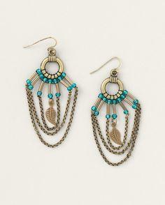 Shimmer chain earrings - [K14275]