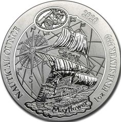 2020 Rwanda Nautical Ounce Series Mayflower 1 oz Silver PRESALE Sealed BU Coin