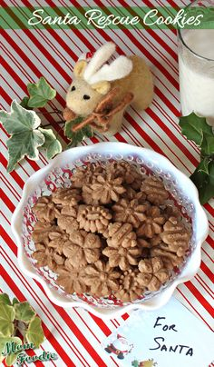 "Chocolate Peanut Butter Spritz Cookies (reply in post and get a real ""old fashioned"" snail mail holiday card with recipe inside)"
