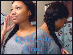 Quick n' Easy Cute Side Braid [Video] - http://community.blackhairinformation.com/video-gallery/braids-and-twists-videos/quick-n-easy-cute-side-braid-video/