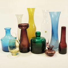 10 GLASVASEN 50ER 60ER JAHRE LILA BLAU GELB GRÜN SAMMLUNG GLASS VASE MID CENTURY Ebay, Glass, Home Decor, Lilac, Blue Yellow, Decoration Home, Drinkware, Room Decor, Corning Glass
