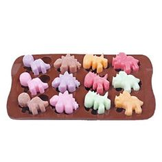 Amazon.com: Yunko Bakeware 12-cavities Cute Dinosaur Shape Ice Cube Mold DIY Clay Mold Tray Silicone Mini Cube Craft Fondant Mold Tray: Kitchen & Dining