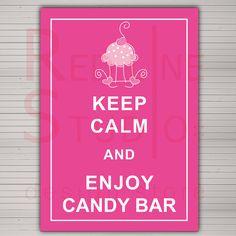 PRINTABLE Custom Candy Bar Wedding Sign Keep Calm and by redlinecs, €8.00