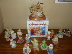 Lot of 17 Cherished Teddies Figurines from 1994-2001 - SOLD