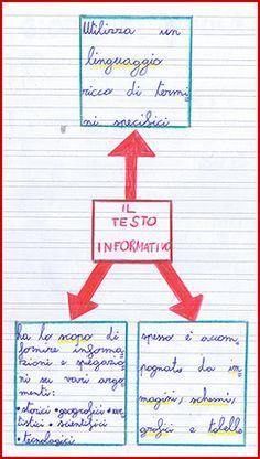 il testo informativo - schema