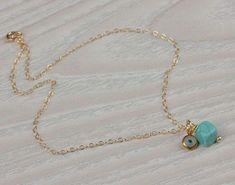 Lovely turquoise ankle bracelet with a tiny evil eye. The chain is gold vermeil, the evil eye is murano and the stone is genuine turquoise howlite. Ankle Bracelets Gold, Ankle Jewelry, Key Jewelry, Emerald Jewelry, Jewelry Watches, Sunflower Jewelry, Golden Jewelry, Silver Jewelry, Best Friend Jewelry