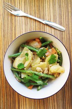 Potato-veggie-wok