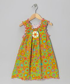 Take a look at this Green Crazy Dot Dress - Toddler & Girls by Mis-Tee-V-Us on #zulily today!