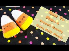 Here is my newest tutorial on making these cute Candy Corn Felt Plushies ^^. Kawaii Crafts, Kawaii Diy, Cute Crafts, Crafts To Sell, Easy Crafts, Kawaii Felt, Kawaii Faces, Stationery Craft, Cute Candy