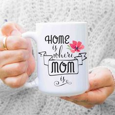 Gifts For Mom From Daughter Home Is Where Coffee Mug Birthday Gift Christmas Personalized Mu385