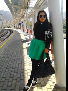 a nice, warm autumn day....Stradivarius dress, Bershka shoes, no name scarf, Pimkie  bag