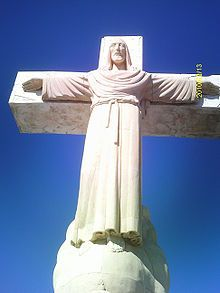 Christ the King (Cristo Rey), a monumental statue of Jesus on the cross atop Mount Cristo Rey in the El Paso suburb of Sunland Park, New Mexico which he completed in 1939.