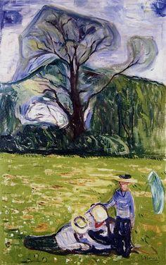Edvard Munch - Spring in Dr. Linde's Garden, 1903