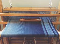 """48 Likes, 3 Comments - Karlee Esler (@crimsonclover.handwoven) on Instagram: """"""""Iris"""" on the loom. #crimsonclover #weaving #handdyed #handmade #handwoven #handweaving #scarf…"""""""