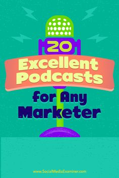 Do you want to accelerate your marketing know-how?  Podcasts are the highest-leverage, lowest-cost educational medium available today. Top experts share their wisdom week after week.  In this article, you'll discover 20 must-listen podcasts for busy marketers and business owners. Via @smexaminer.