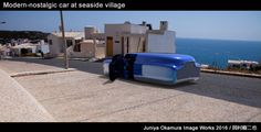 A hover car stopping near the beach by 3ds Max and Keyshot
