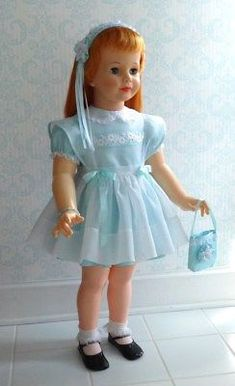 RARE-REPRO-ENSEMBLE-for-Patti-Playpal-in-AQUA-ICE-for-Easter-or-Spring Girls Dresses, Flower Girl Dresses, Doll Clothes, Harajuku, Aqua, Wedding Dresses, Spring, Easter, Ice