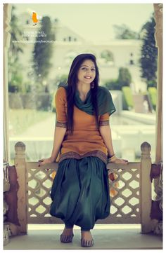 punjabi models, punjabi suit, salwar kameez, orange, green, royal