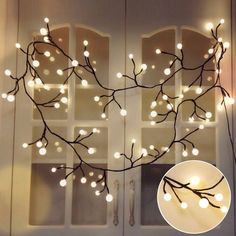 Led Night Lights Lights & Lighting Objective Stylish Branch Tree Twig Leaf Solar Outdoor Garden 60 Warm White Led Lights 3pcs 2019 New Hot #40 Complete Range Of Articles