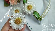 Brooch, Earrings, Jewelry, Flip Flop Decorations, Pearl Flower, Decorated Flip Flops, Pearls, Crystals, Ornaments