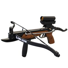 Prophecy 80 Pound Aluminum Self-Cocking Pistol Crossbow with Cobra System Limb, Red Dot Scope and 3 Arrows Crossbow Targets, Crossbow Bolts, Diy Crossbow, Crossbow Arrows, Crossbow Hunting, Archery Hunting, Hunting Bows, Hunting Gear, Survival Weapons